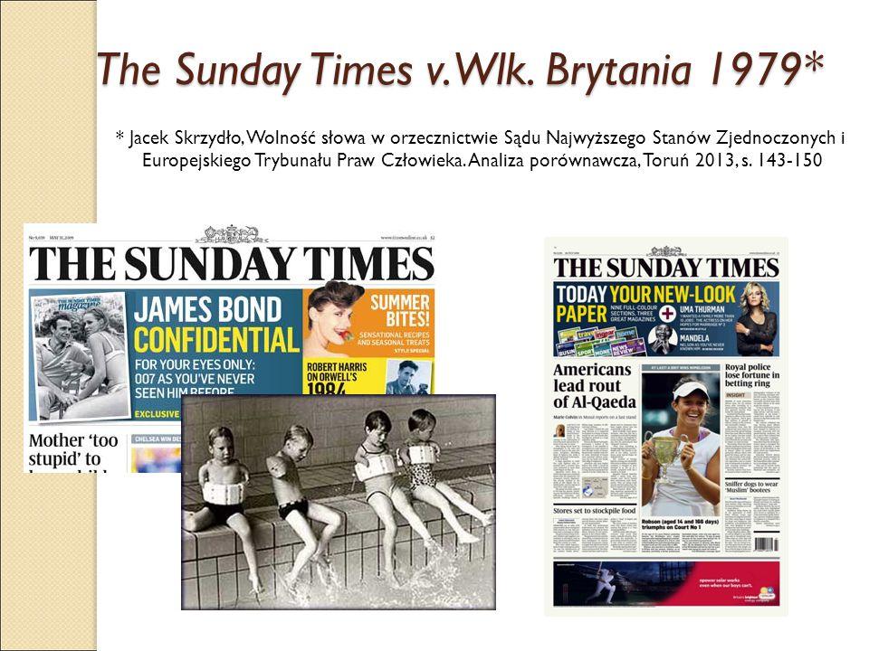 The Sunday Times v. Wlk. Brytania 1979*