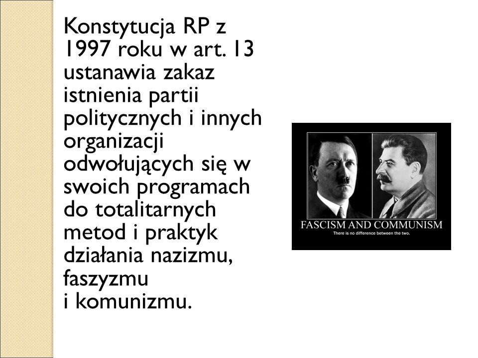 Konstytucja RP z 1997 roku w art