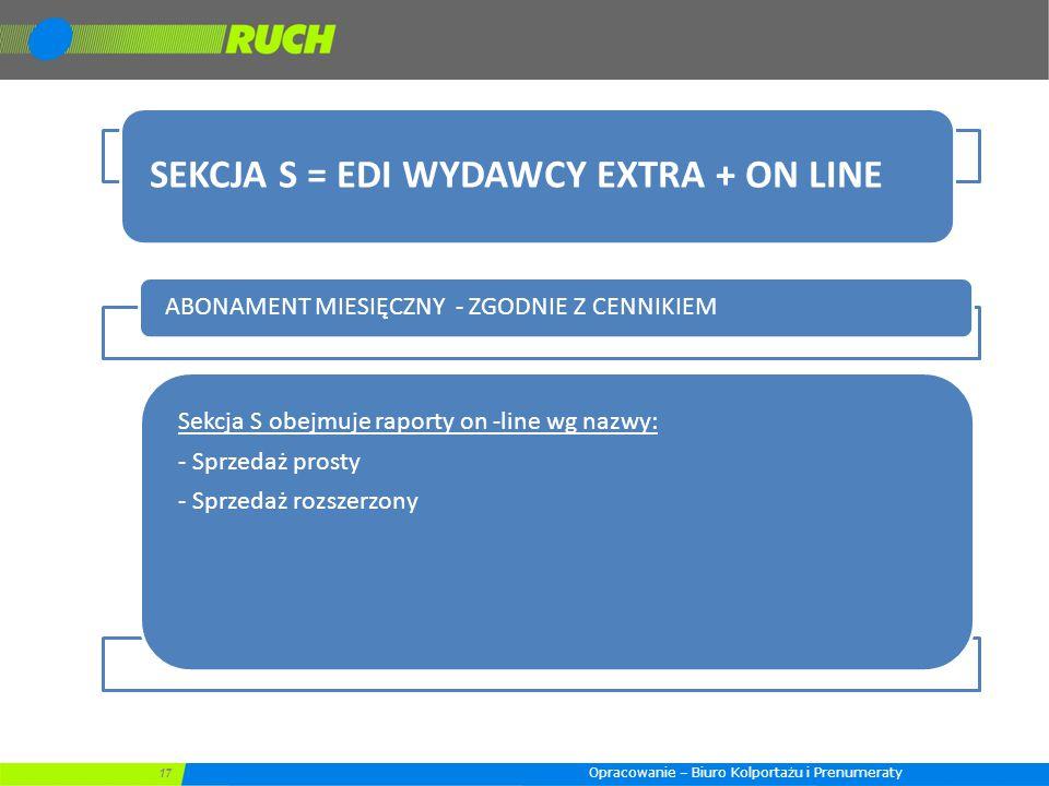 SEKCJA S = EDI WYDAWCY EXTRA + ON LINE
