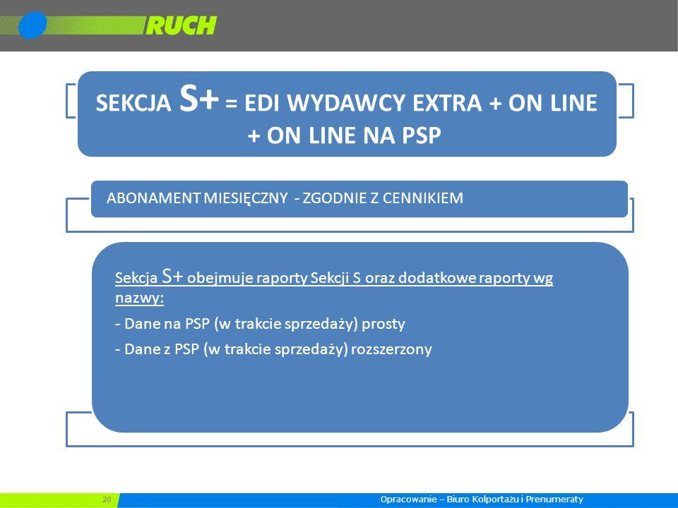 SEKCJA S+ = EDI WYDAWCY EXTRA + ON LINE + ON LINE NA PSP