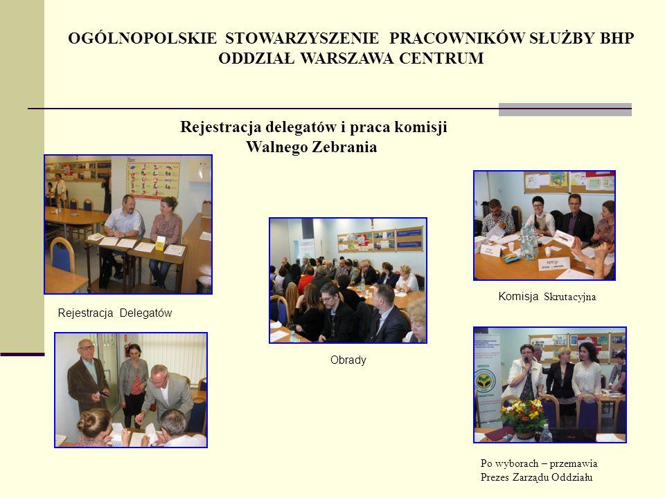Rejestracja delegatów i praca komisji Walnego Zebrania