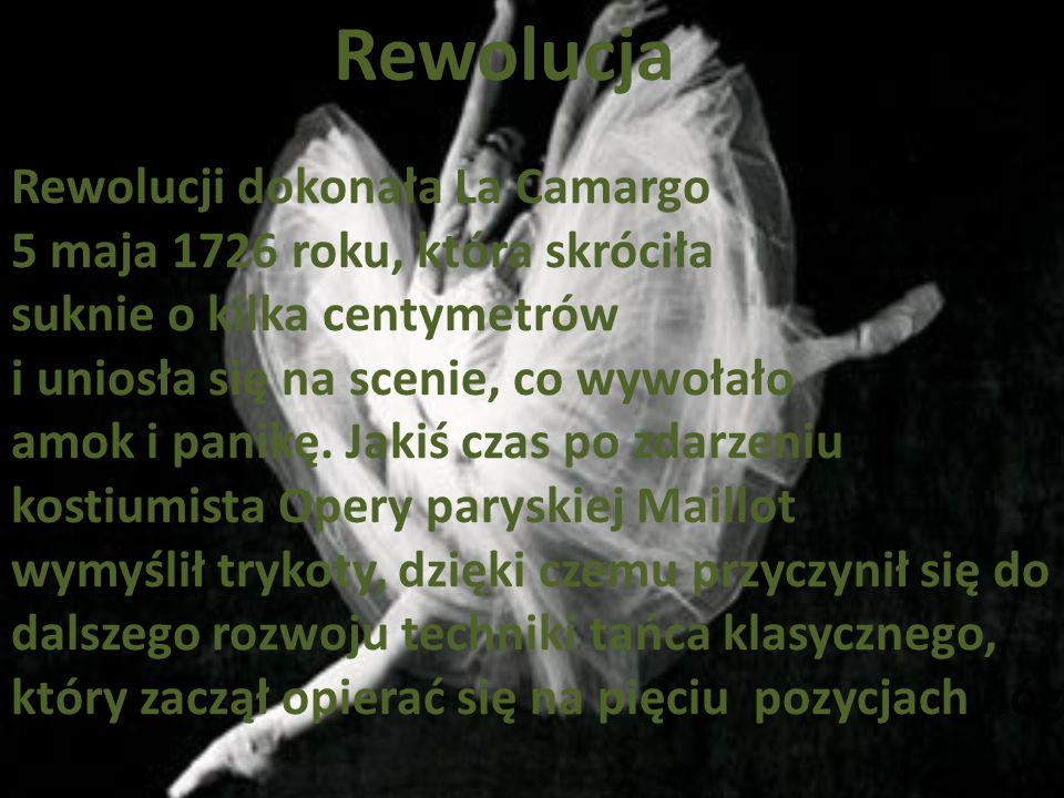 Rewolucja Rewolucji dokonała La Camargo