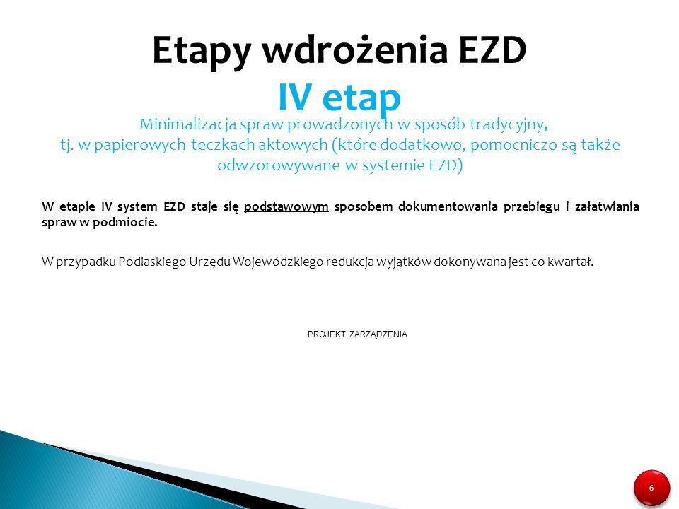 Etapy wdrożenia EZD IV etap