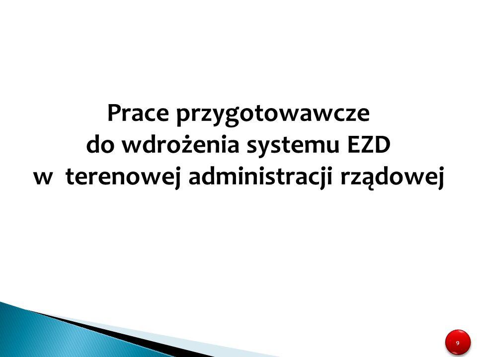 Prace przygotowawcze do wdrożenia systemu EZD w terenowej administracji rządowej