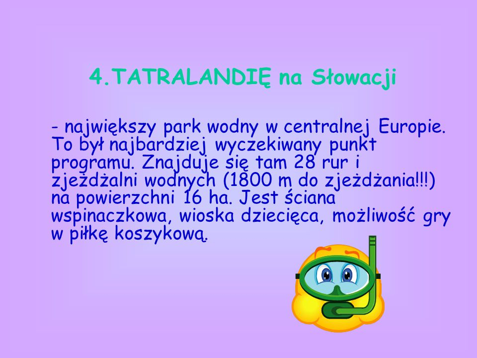 4.TATRALANDIĘ na Słowacji