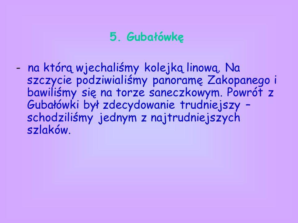 5. Gubałówkę