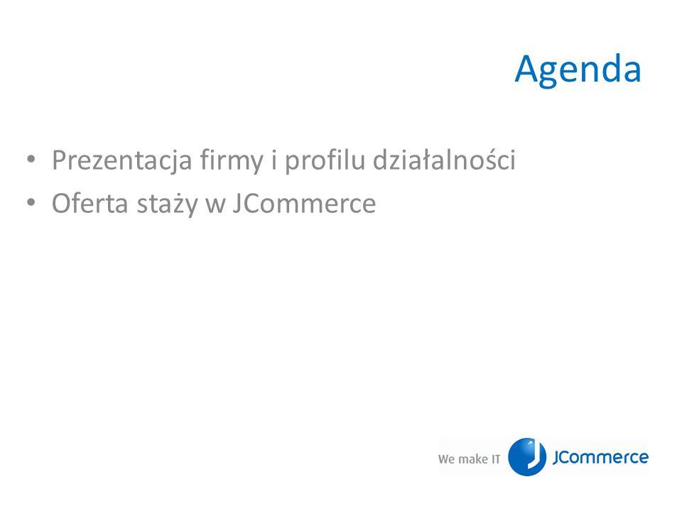 Agenda Prezentacja firmy i profilu działalności