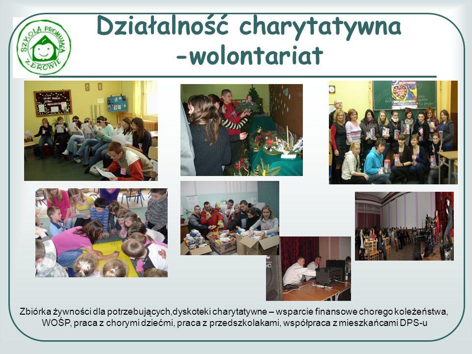 Działalność charytatywna -wolontariat