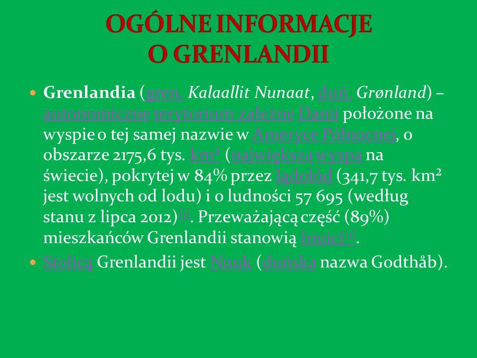 OGÓLNE INFORMACJE O GRENLANDII