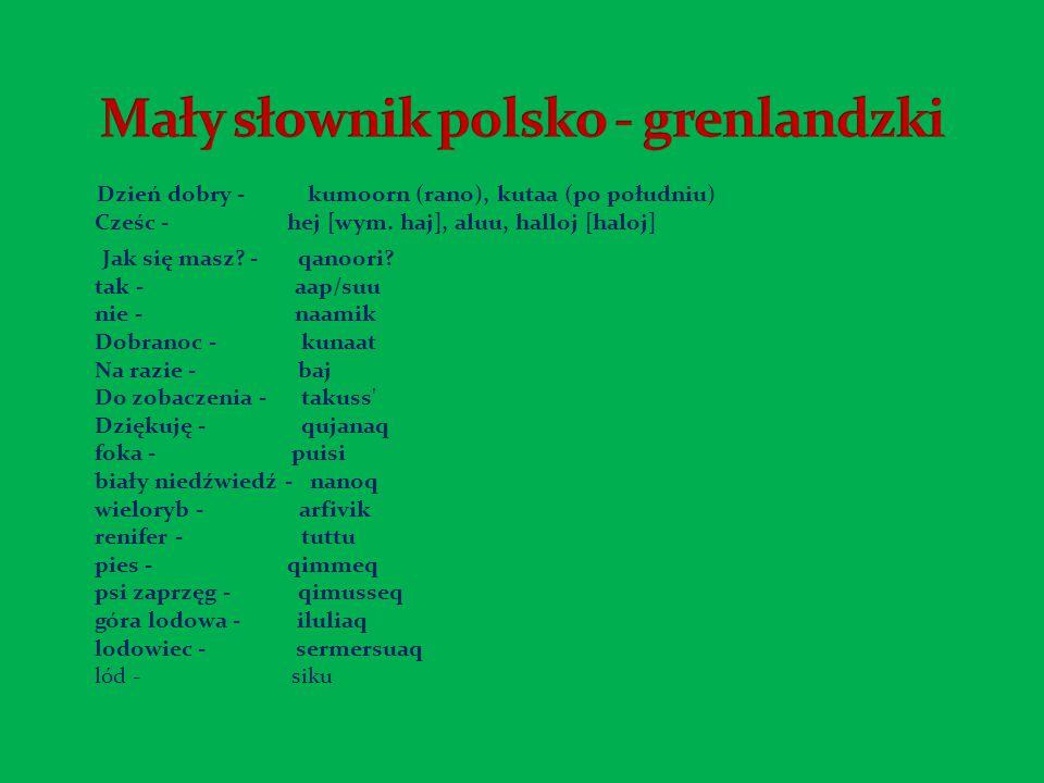 Mały słownik polsko - grenlandzki