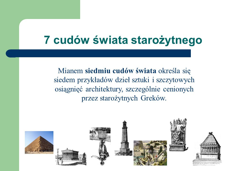 7 cudów świata starożytnego