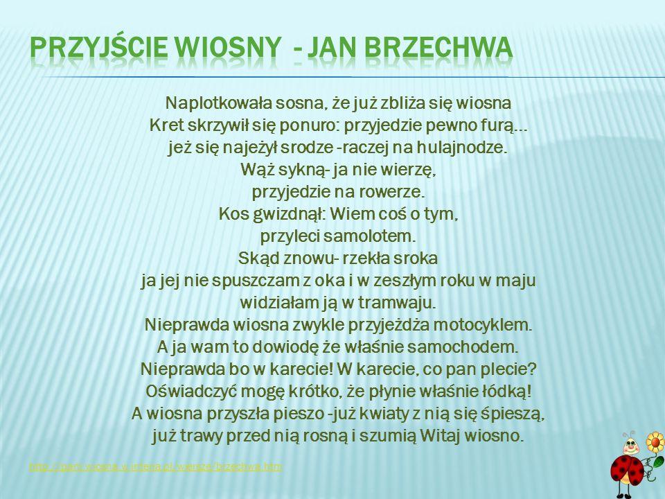Przyjście wiosny - Jan brzechwa
