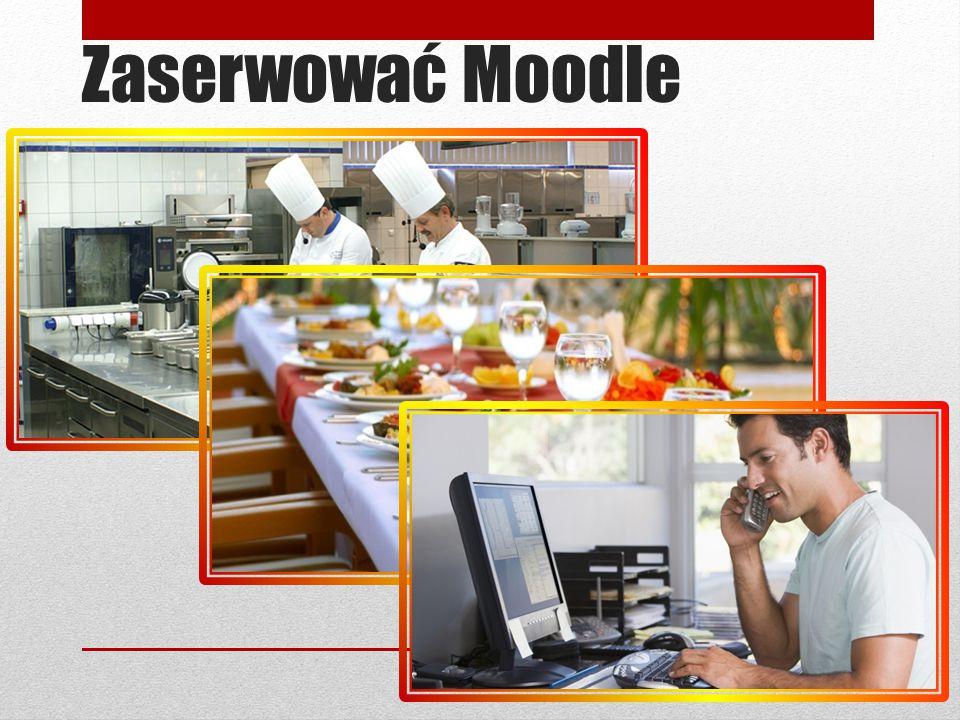 Zaserwować Moodle