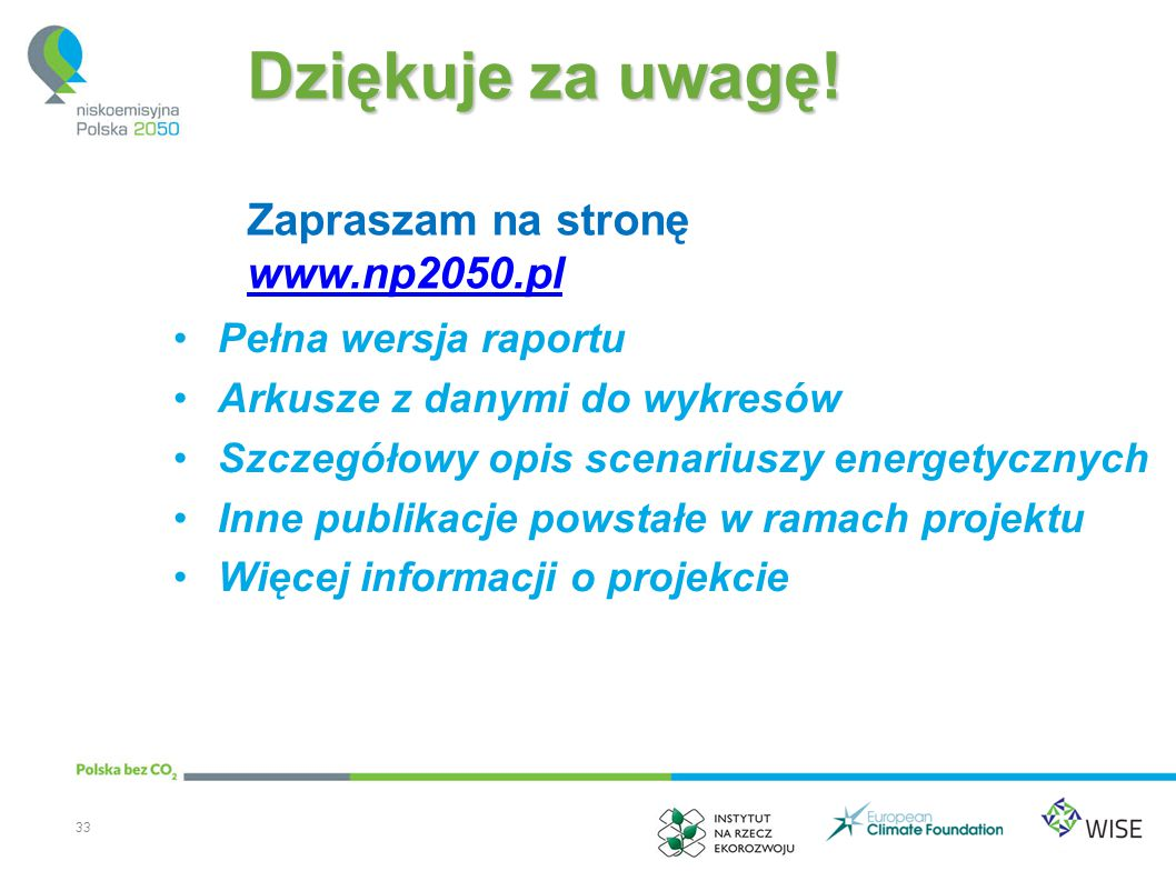 Dziękuje za uwagę! Zapraszam na stronę www.np2050.pl