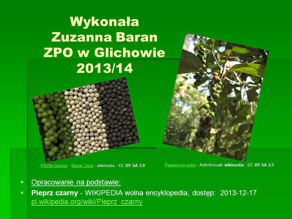 Wykonała Zuzanna Baran ZPO w Glichowie 2013/14