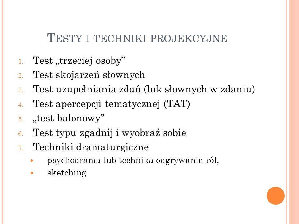 Testy i techniki projekcyjne