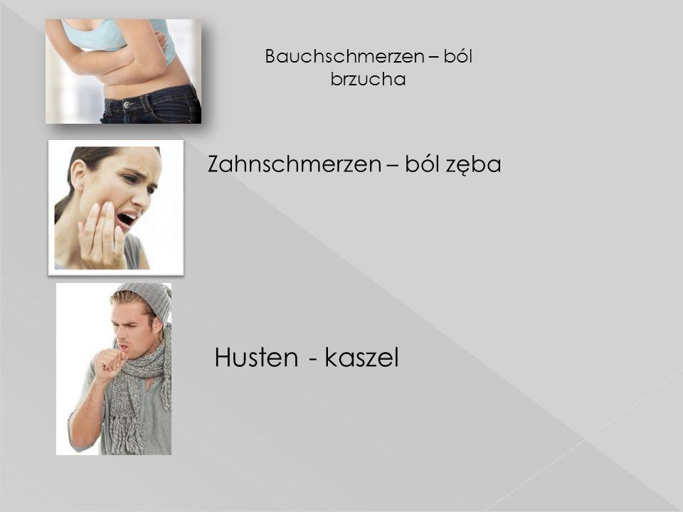 Bauchschmerzen – ból brzucha
