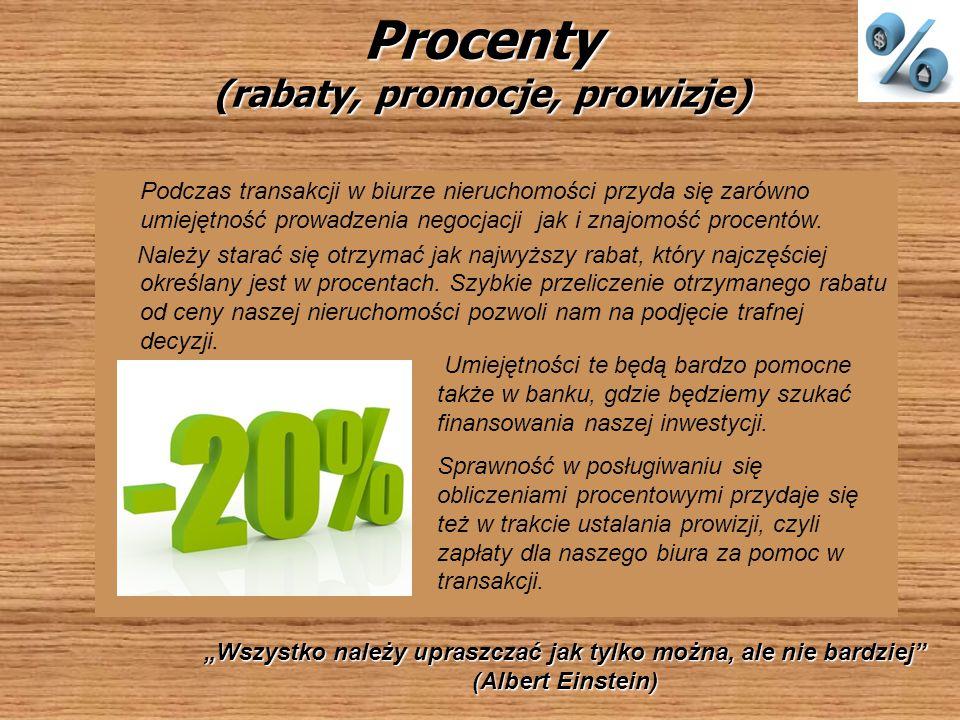 Procenty (rabaty, promocje, prowizje)