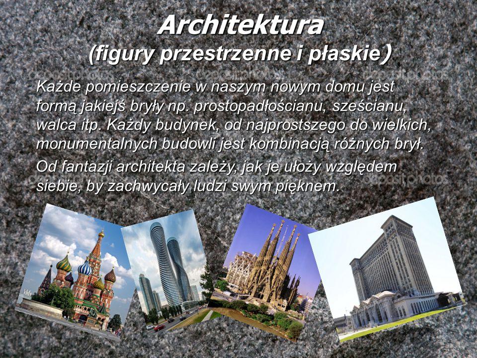 Architektura (figury przestrzenne i płaskie)