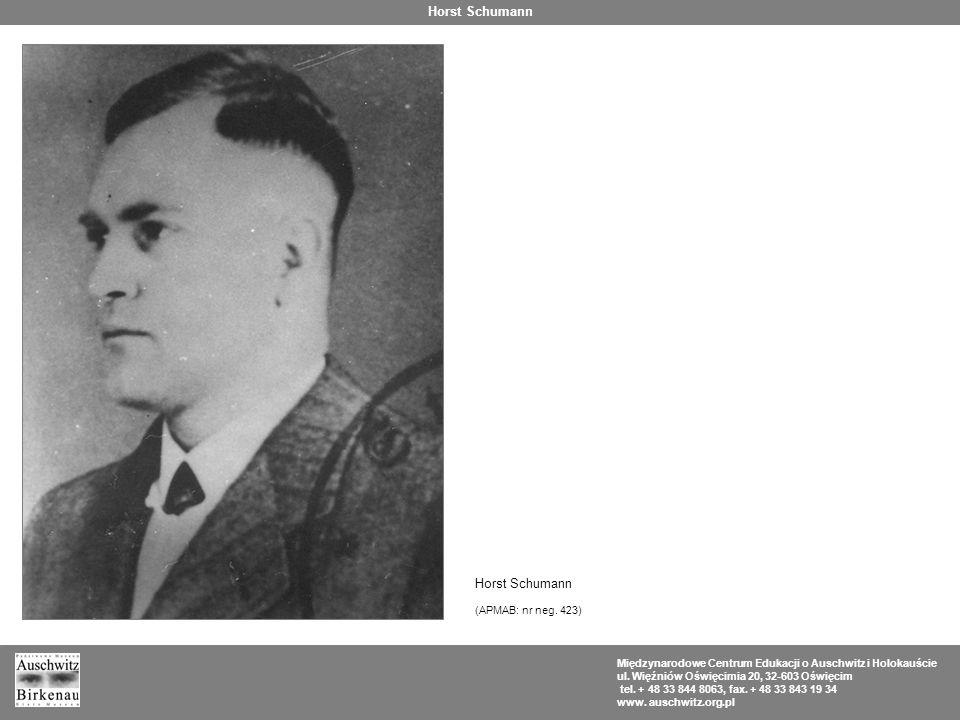 Horst Schumann Horst Schumann (APMAB: nr neg. 423)