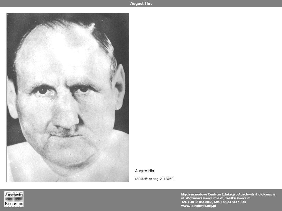 August Hirt August Hirt (APMAB: nr neg. 21126/80)