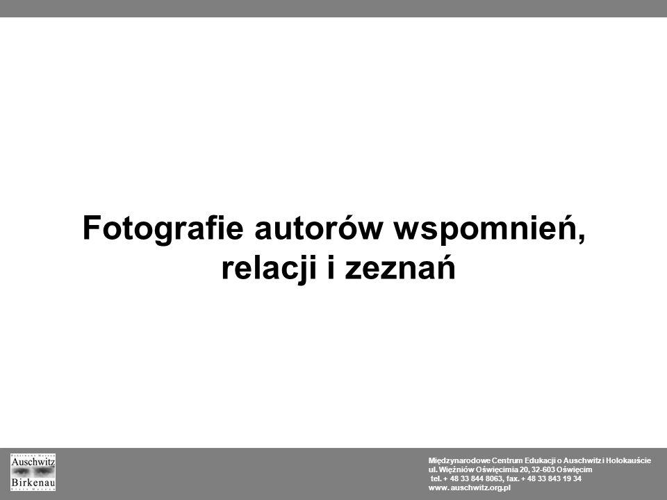 Fotografie autorów wspomnień,