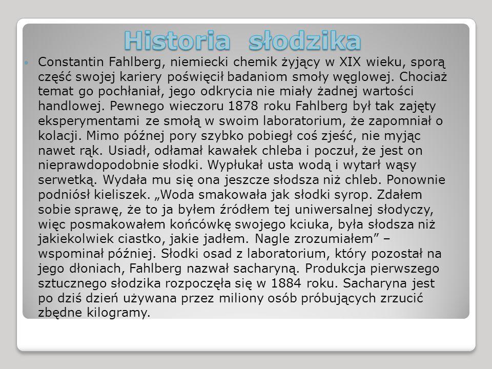 Historia słodzika