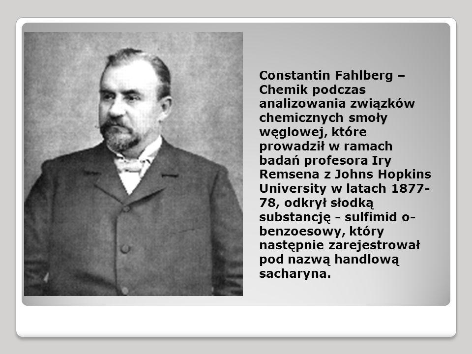 Constantin Fahlberg –