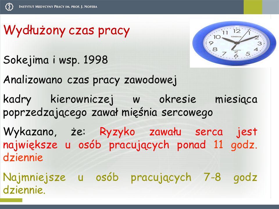 Wydłużony czas pracy Sokejima i wsp. 1998