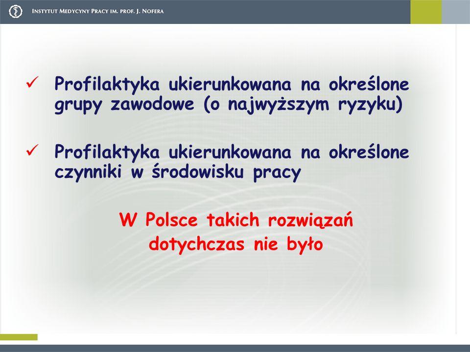 W Polsce takich rozwiązań