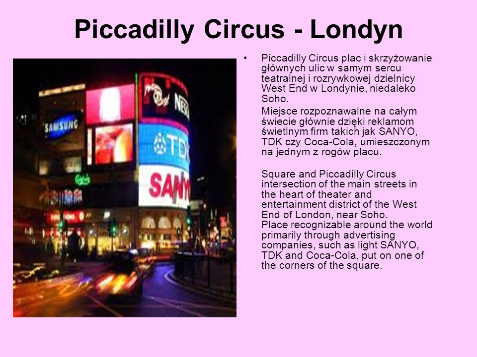 Piccadilly Circus - Londyn