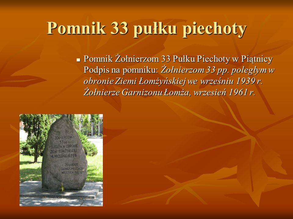 Pomnik 33 pułku piechoty