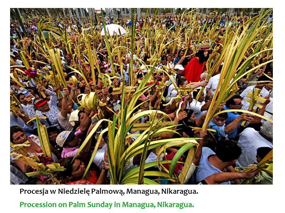 Procesja w Niedzielę Palmową, Managua, Nikaragua.