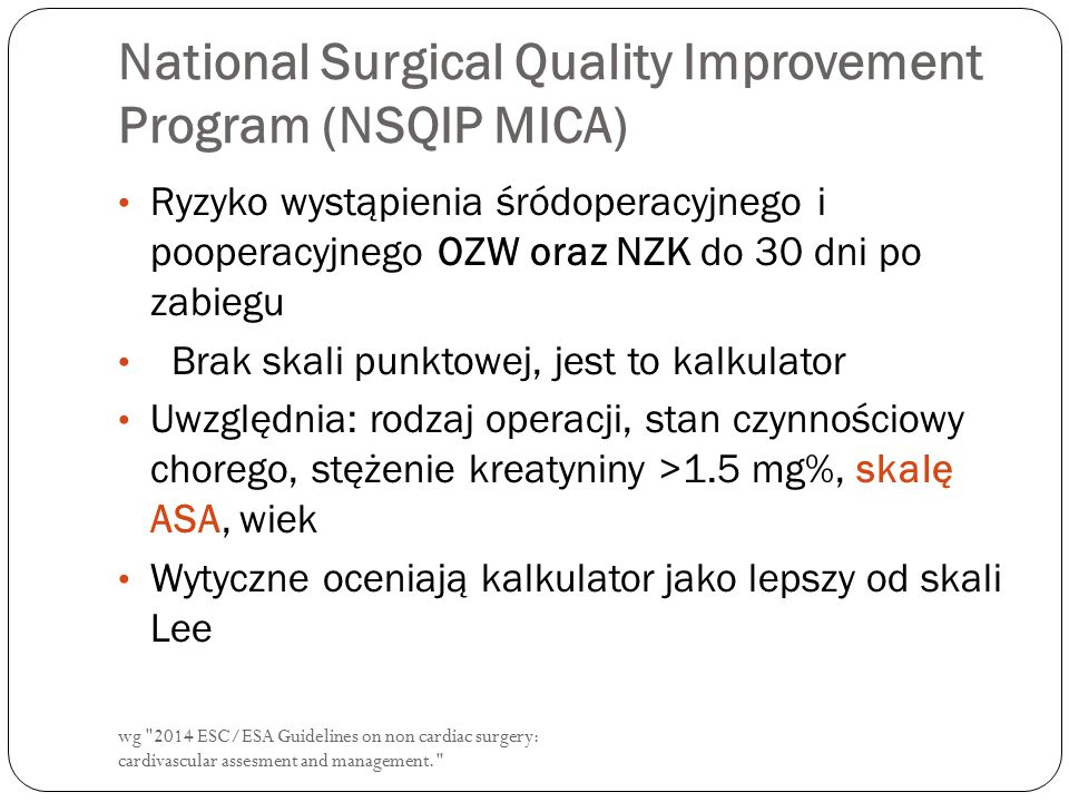 National Surgical Quality Improvement Program (NSQIP MICA)