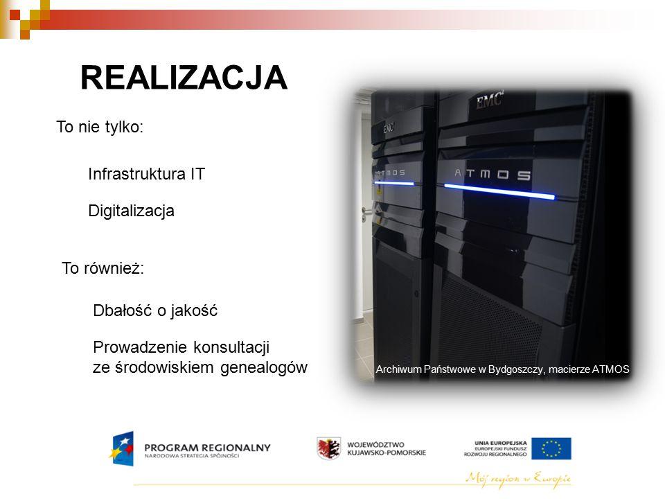 REALIZACJA To nie tylko: Infrastruktura IT Digitalizacja To również: