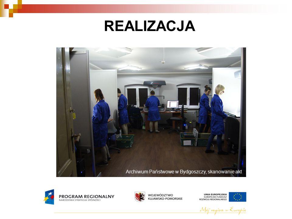 REALIZACJA Archiwum Państwowe w Bydgoszczy, skanowanie akt