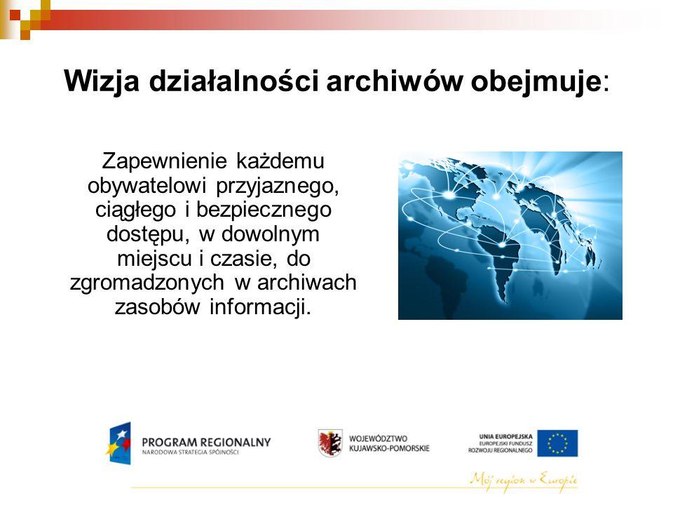 Wizja działalności archiwów obejmuje: