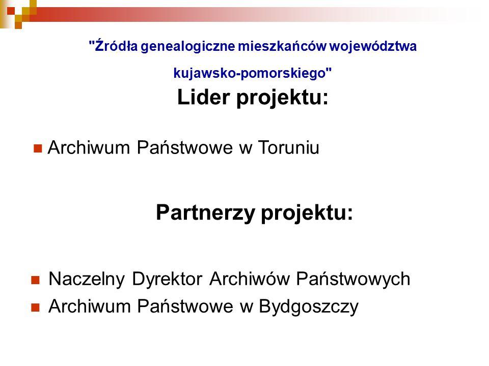 Partnerzy projektu: Archiwum Państwowe w Toruniu
