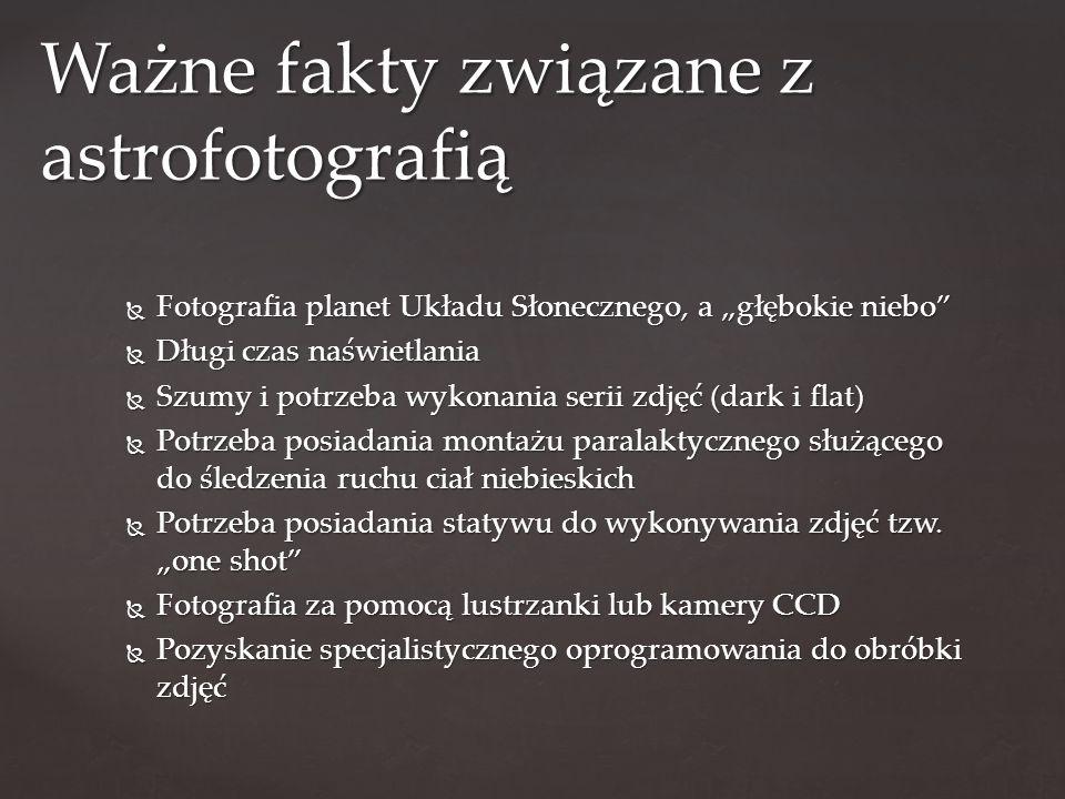 Ważne fakty związane z astrofotografią