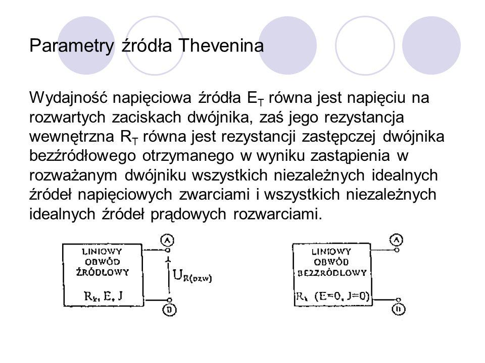 Parametry źródła Thevenina