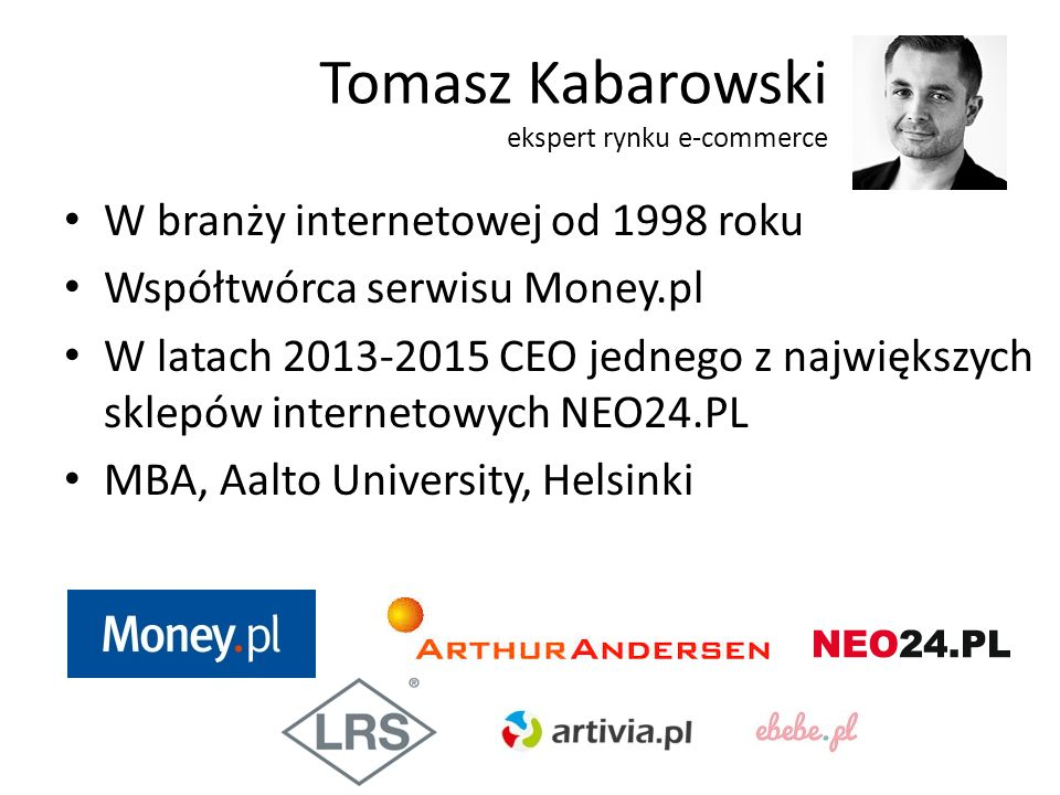 Tomasz Kabarowski ekspert rynku e-commerce