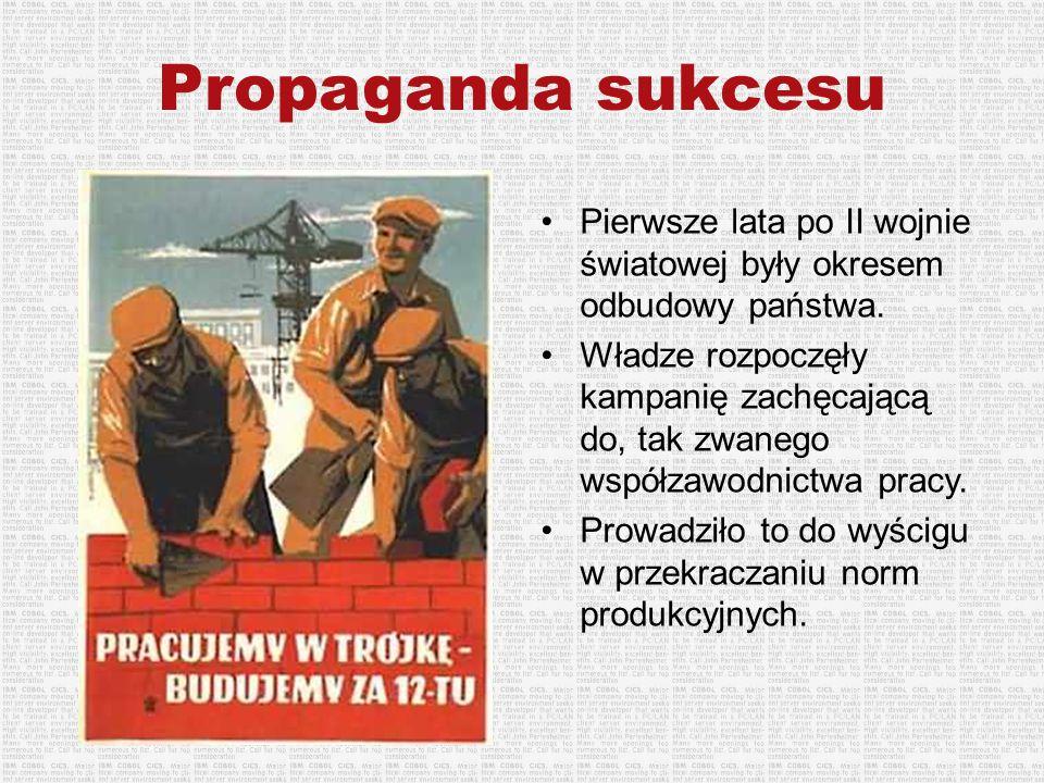 Propaganda sukcesu Pierwsze lata po II wojnie światowej były okresem odbudowy państwa.