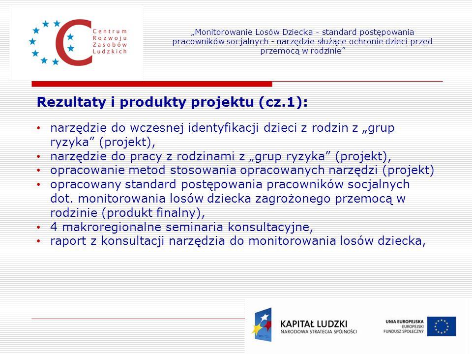 Rezultaty i produkty projektu (cz.1):