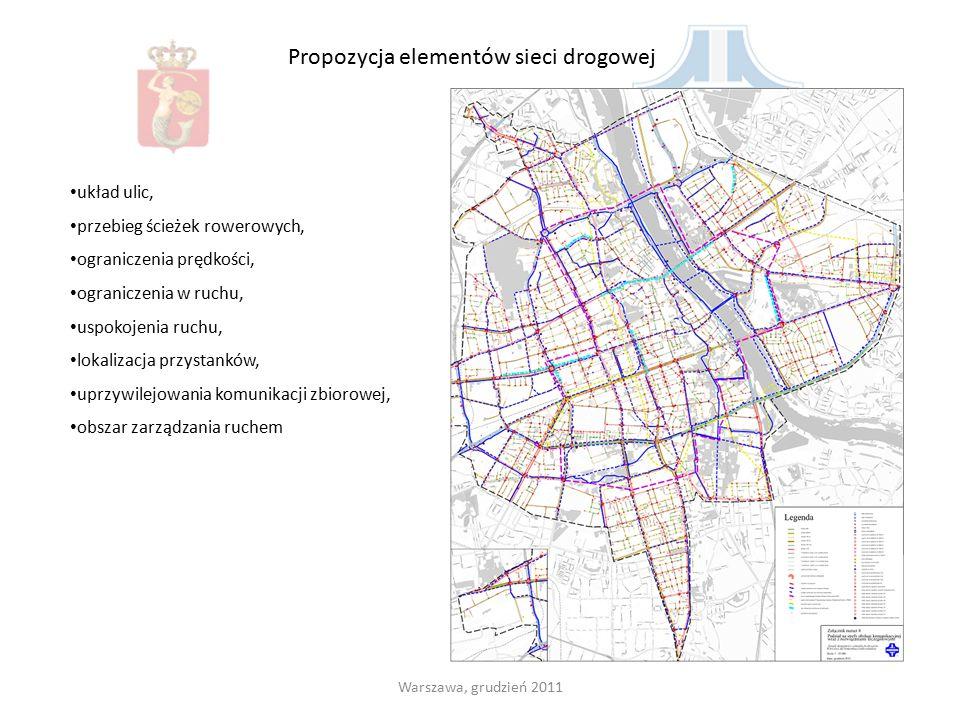 Propozycja elementów sieci drogowej