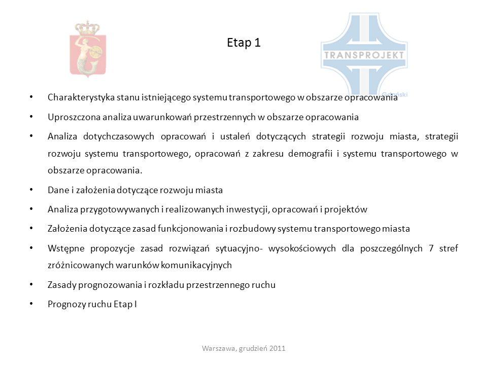 Etap 1 Charakterystyka stanu istniejącego systemu transportowego w obszarze opracowania.