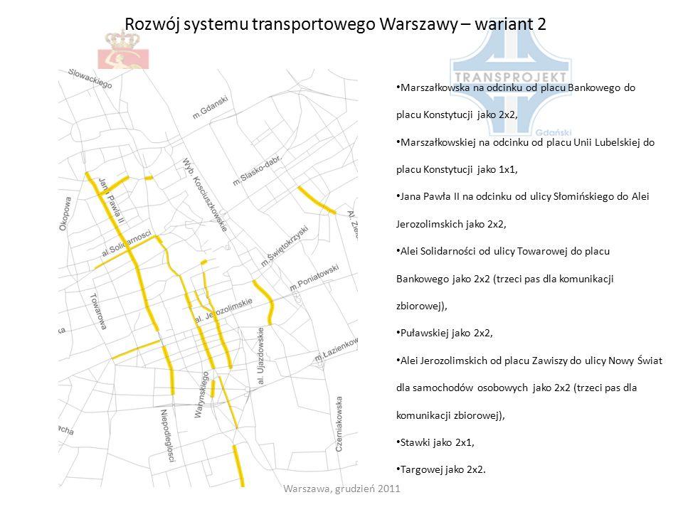 Rozwój systemu transportowego Warszawy – wariant 2
