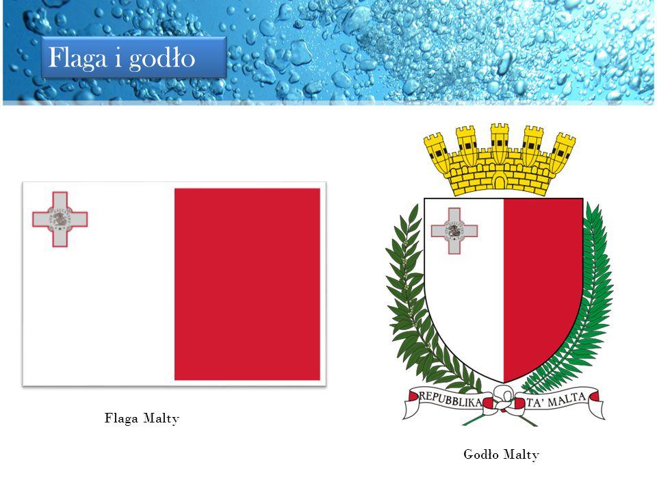 Flaga i godło Flaga Malty Godło Malty