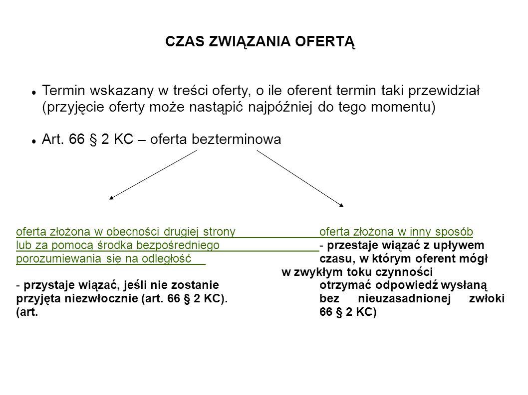 Art. 66 § 2 KC – oferta bezterminowa