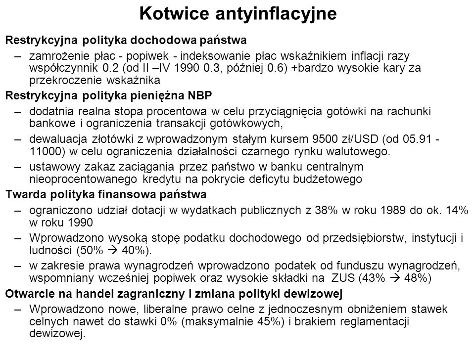 Kotwice antyinflacyjne