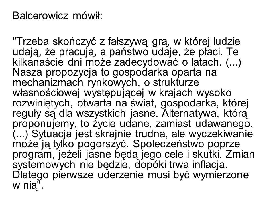 Balcerowicz mówił: